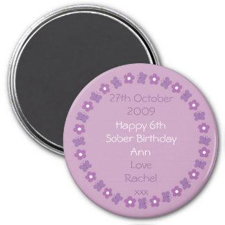 Imán bonito del cumpleaños de la sobriedad