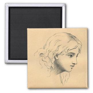 Imán - bosquejo del vintage de Raphael