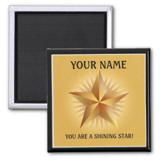 Imán brillante del personalizado de la estrella de