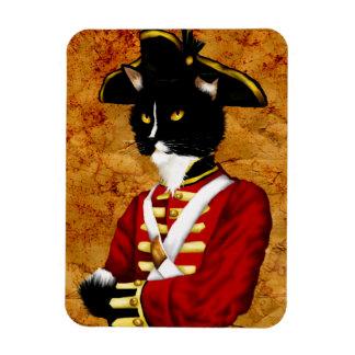 Imán británico del soldado del gato del Redcoat