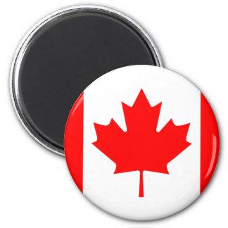 Imán canadiense de la bandera