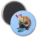 Imán canadiense de la bandera del castor