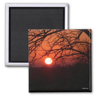 Imán candente de la puesta del sol