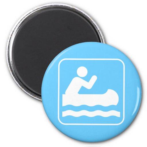 Imán Canoeing del símbolo