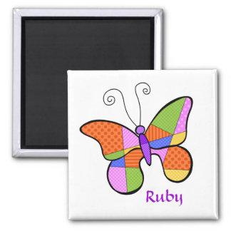 Imán caprichoso de la mariposa del cubismo