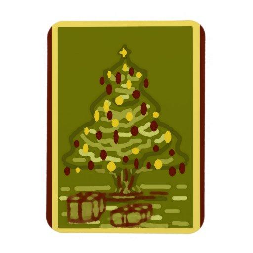 Imán CardStyle grande del árbol de navidad del ver