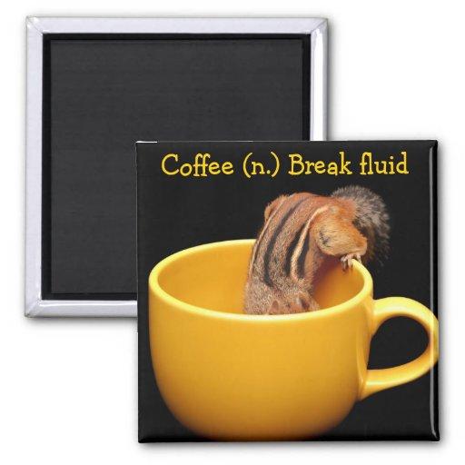 Imán cariñoso del Chipmunk del café