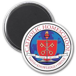 Imán católico del escudo de Homeschool