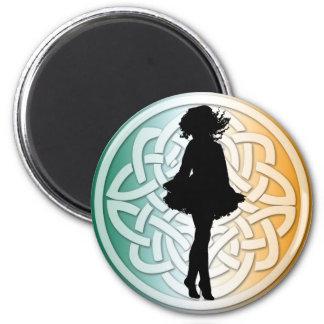 Imán céltico de la bandera del bailarín irlandés