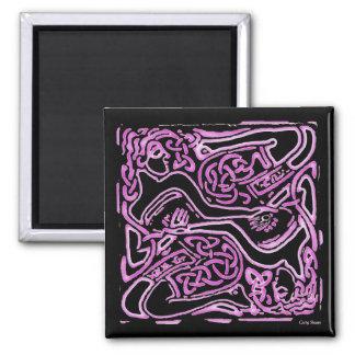 Imán céltico entrelazado rosa de las señoras