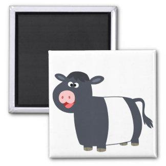 Imán ceñido dibujo animado feliz lindo de la vaca