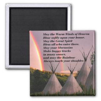 Imán cherokee del rezo de la bendición