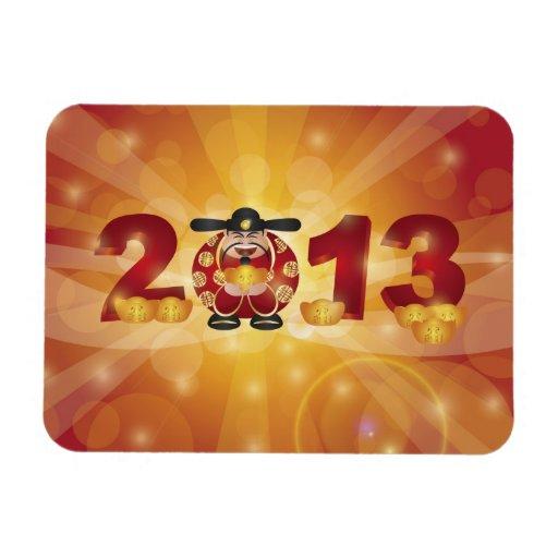 Imán chino de dios del dinero del Año Nuevo 2013