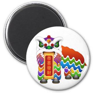 Imán chino de la danza de león del Año Nuevo