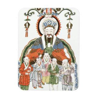 Imán chino de la foto de dios de la cocina de Zao