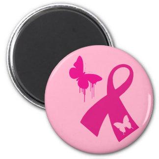 Imán: Cinta rosada con el imán rosado de la maripo