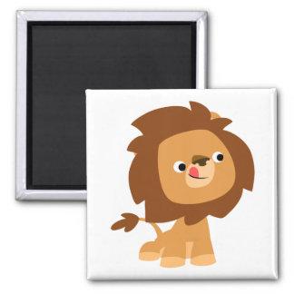 Imán codicioso lindo del león del dibujo animado