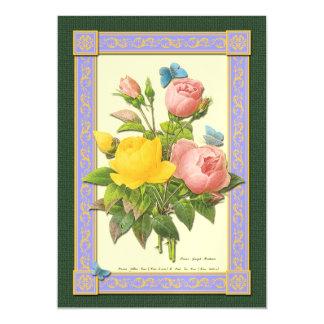 Imán color de rosa botánico de Boquet y de las Invitaciones Magnéticas