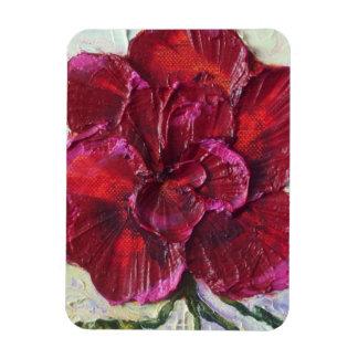 Imán color de rosa de color rojo oscuro