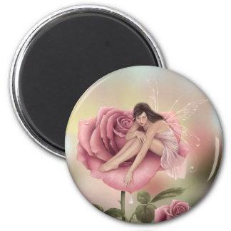 Imán color de rosa de la hada de la flor