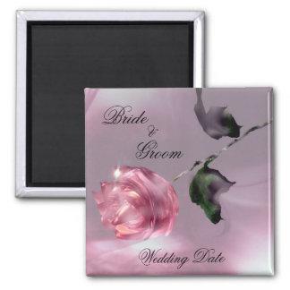 Imán color de rosa del favor del boda