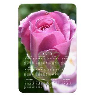 Imán color de rosa hermoso del calendario del brot
