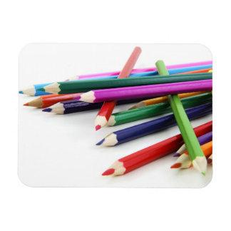 Imán coloreado apilado del premio de los lápices
