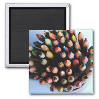 Imán coloreado de los lápices