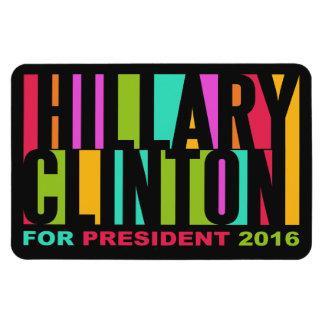 Imán colorido 2016 de Hillary Clinton