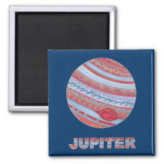 Imán colorido de Júpiter del planeta de la