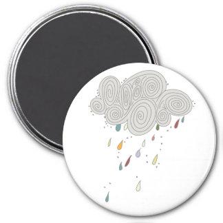 Imán colorido de la nube de lluvia