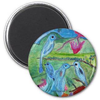 Imán colorido de los pájaros