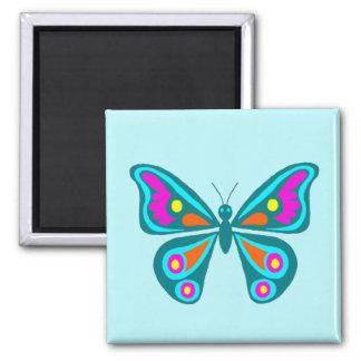 Imán colorido del cuadrado de la mariposa