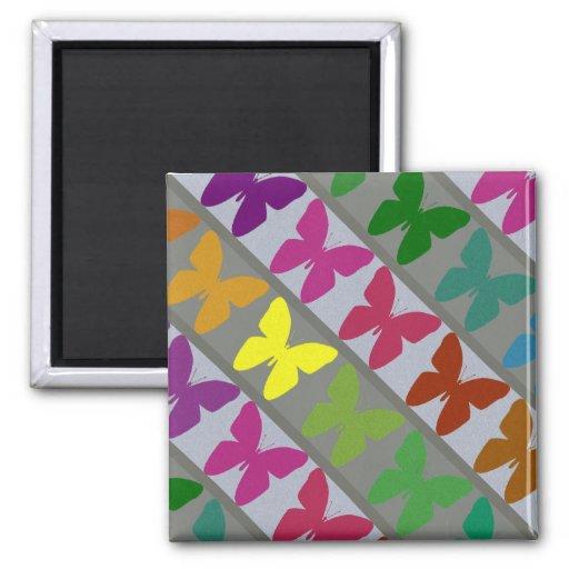 Imán colorido del diseño de la mariposa