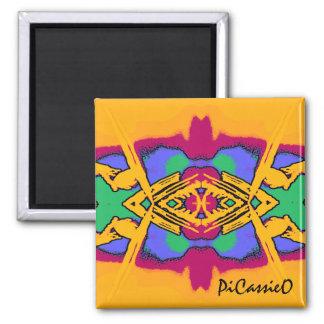 Imán colorido del diseño del diamante de Geo