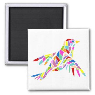 Imán colorido del pájaro
