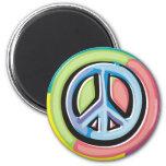 Imán colorido del símbolo de paz