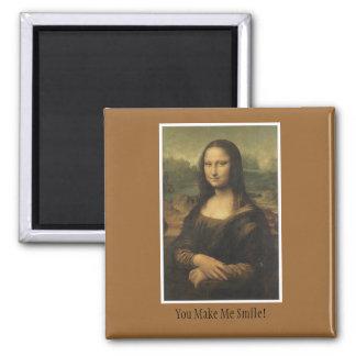 Imán con el diseño de Mona Lisa