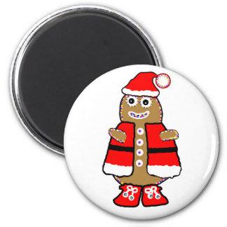 Imán con el hombre de pan de jengibre del navidad