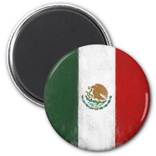 Imán con la bandera apenada de México