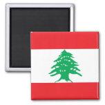 Imán con la bandera de Líbano