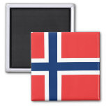 Imán con la bandera de Noruega
