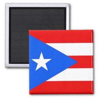 Imán con la bandera de Puerto Rico - los E.E.U.U.