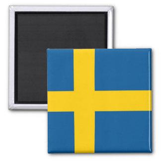 Imán con la bandera de Suecia