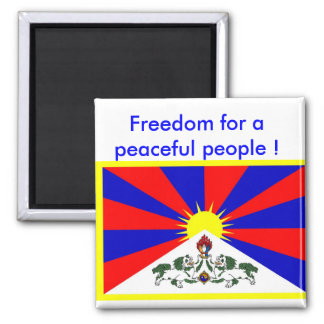 Imán con la bandera de Tíbet