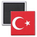 Imán con la bandera de Turquía
