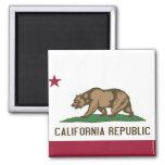 Imán con la bandera del estado de California - los