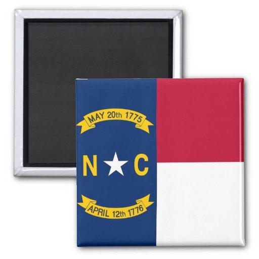 Imán con la bandera del estado de Carolina del Nor