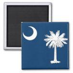 Imán con la bandera del estado de Carolina del Sur