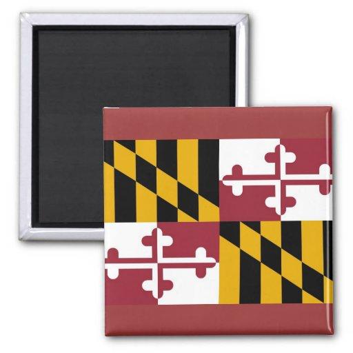 Imán con la bandera del estado de Maryland - los E